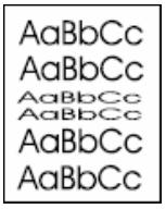 Drucker Hilfe: Verformte Zeichen