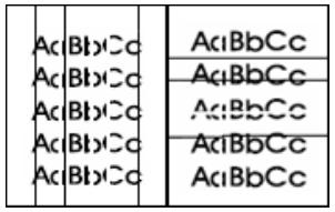 Drucker Hilfe: Linien und Streifen im Druckbild